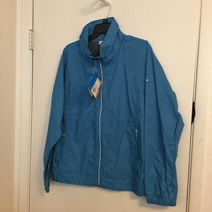 Columbia Light Blue Rain Jacket New With Tags 2X